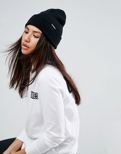 Get this Dickies s winter hat now! Click for more details. Worldwide  shipping. Dickies Alaska Beanie in Black - Black  Beanie by Dickies ae4efe93ff4e