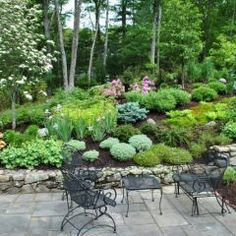more landscaping on a hill ideas    or it could look like this......