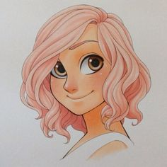Another character drawing for my manga. I wanted to see her in color, although she probably never will.