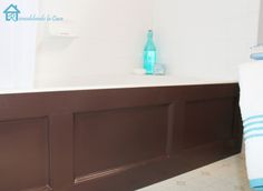 Bathtub Wood Panel Cover...make a boring bathtub an upscale one with DIY