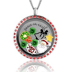 Christmas Necklace Charms Locket and Fashion Jewelry Christmas Gift Ideas for Mom Best Christmas Gifts >>> Click image to review more details.