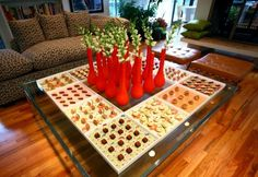 dessert mosaic coffee table foods appetizer displays catering trends peter callahan