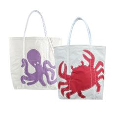 Octopus or Crab tote bag! go to home page for special pricing for Oprah readers this month only