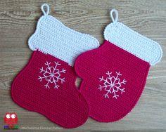 110 Crochet pattern - Stocking and Mitten decor potholder or decorative pillow - Amigurumi PDF file by Zabelina Etsy (3.99 USD) by LittleOwlsHut
