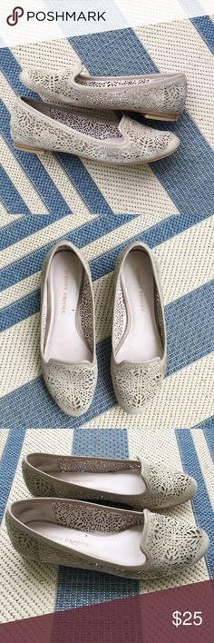 💓Audrey Brooke perforated flats/loafers Audrey Brooke perforated flats/loafers. Suede leather beige. Size 7.5. Audrey Brooke Shoes Flats & Loafers