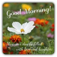 Good morning: May your day be filled with live and laughter...