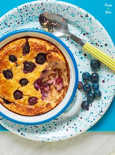 Lemon and Blueberry Baked Oats - Pinch Of Nom