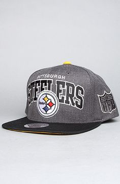 b70858fa6e99c Mitchell   Ness The Pittsburgh Steelers Arch Logo G2 Snapback Hat in Gray  Pittsburgh Steelers Hats