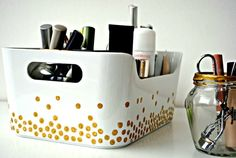 boîte rangement maquillage à ranger soi-même : petit coffret en plastique