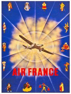 Travel Poster European Art Home Decor Print TR86 by Blivingstons