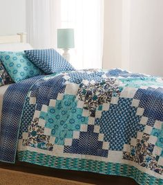 Twin Size Patchwork Quilt | Sewing pattern