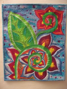 Jardin Romantique by Jeri Riggs, see quilting detail