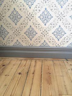 My rural dream: light blue, thunder gray, gray blue - - Villa Design, Design Hotel, Swedish Wallpaper, Home Wallpaper, Interior Trim, Interior And Exterior, Interior Design, Sweden House, Scandinavian Interior