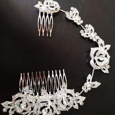 Peineta Elizabeth con extensión – Novias Low Cost Crochet Necklace, Diamond, Bracelets, Jewelry, Fashion, Hair Combs, Bridal Headpieces, Extensions, Brides
