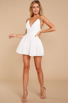 All On Purpose White Romper Trendy White Romper White Romper Romper 44 00 Red Dress Bo Cute Dresses, Beautiful Dresses, Short Dresses, Prom Dresses, Dress Long, Ibiza Outfits, Fashion Outfits, Dusty Blue Dress, Marine Uniform