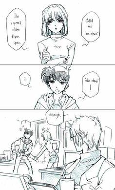 Awwee I wish shiho also have a loveteam.it would be very painful,sad,and confusing if she falls for shinichi😭😭😭 Detektif Conan, Conan Comics, Magic Kaito, Happy Tree Friends, Subaru, Detective, Kaito Kid, Magic Hands, Kudo Shinichi