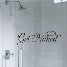 Get Naked Fancy Bathroom Decal by CharmingVinylDesigns on Etsy