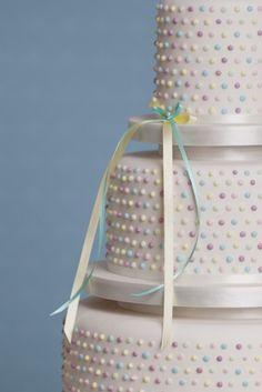 #wedding cakes #wedding Polka dot wedding cake in pretty pastels. @Rachelle Simpson Beautiful Bespoke Cakes