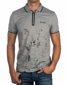 Polos Hugo Boss ® Hombre Prek Pro ✶ Gris | ENVIO GRATIS Polo T Shirts, Boys Shirts, Hugo Boss, Cool Shirt Designs, Polo Outfit, Pique Shirt, Cycling Outfit, Men Looks, Mens Tees
