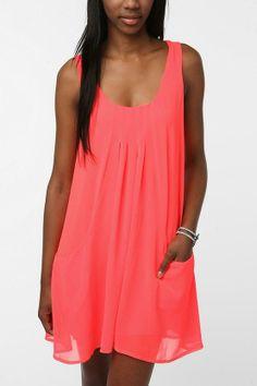 korall szinű mini ruha.:)