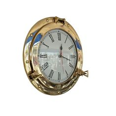 Handcrafted Nautical Decor Deluxe Class Porthole 12'' Clock & Reviews | Wayfair