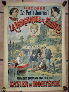 Affiche-Le-Petit-Journal-la-Marchande-de-Fleurs-Xavier-de-Montepin