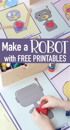 Craft Projects For Kids, Crafts For Kids To Make, Kids Crafts, Robot Crafts, Easy Crafts, Craft Ideas, Activities For Girls, Party Activities, Space Activities