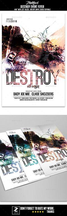 Destroy Event Flyer
