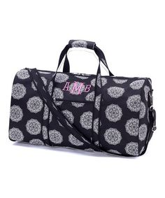 This Black Medallion Personalized Large Duffel is perfect! #zulilyfinds