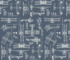 WW1 Slate/Cream fabric by savannahlindsay on Spoonflower - custom fabric For a shirt for Nate