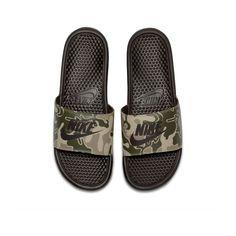 Men Slides, Nike Slides, Skate, Nike Benassi, Latest Trends, Brown, Prints, Shoes, Size 14