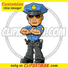 Police Cartoon Policeman & Officer clipart image - Clipartman.com