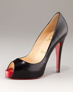 On the long-term wishlist: Christian Louboutin Very Prive Open-Toe Platform Pump - Neiman Marcus