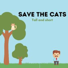 Boom Cards - Save the cats: Tall and short Speech Therapy, Special Education, Daddy, Deck, Author, Activities, Learning, Cats, Speech Pathology