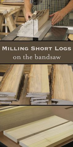 Milling Short Logs on the Bandsaw #woodworkingplans #WoodworkingTools
