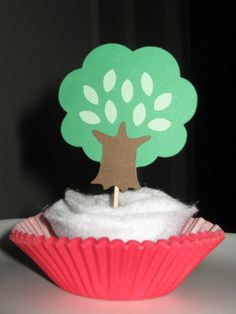Woodland Animal / Woodland Creature  Tree Cupcake by thepapercubby, $3.00