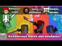 Castle Crashers - Apanhamos pros demônios! | Blog Viiish Channel