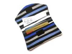 Hey, I found this really awesome Etsy listing at https://www.etsy.com/listing/197905568/small-women-wallet-blue-stripes-wallet