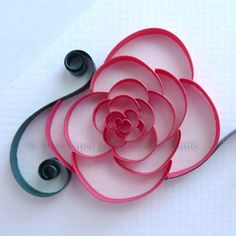 Cut-Coil Quilling for Rounded Flowers