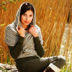 Crochet scarf-hood for beginners