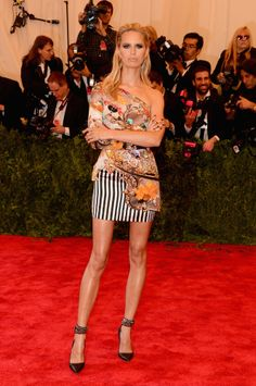Karolina Kurkova  Mary Katrantzou, Punked. Met Gala 2013 Red Carpet Arrivals