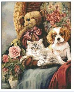 Animal Party Counted Cross Stitch Kit