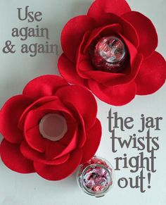 Glass Jar Roses - 30 Minute Crafts