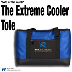 """#RohamInt #ToteoftheWeek– The Extreme Cooler Tote!  The Extreme Cooler Tote is a stylish bag that is also a large cooler. Branded with your company logo, your business will stand out with this """"extremely cool"""" promotional opportunity!  #PromotionalProducts #Branding #CustomizedMarketing #Promos #PromotionalToteBag #CustomToteBag #BrandedToteBag #BrandedCustomBag #Tote #BrandedBag #TradeshowPromotionalProducts #CustomPromotionalProducts #BrandedMarketing #PromoteYourBusiness"""