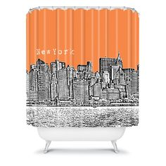 gray and orange shower curtain. Bird Ave New York Orange Shower Curtain These playlists are great for Spin or Cycle classes  but they also