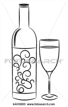 how to draw a wine bottle Inspiring Inspiration Pinterest