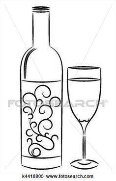 zinfandel coloring pages   wine glass clipart   Wine Glasses Silhouette clip art ...