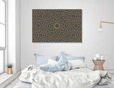 Discover «The Moussaieff Red Diamond of Urban Life», Limited Edition Canvas Print by Valev Laube - From $59 - Curioos #Art #Print #Serenity #Sleep #Bedroom #Interior #Design #ValevLaube #UrbanLuxury #Pattern #Patterns #BuyNow