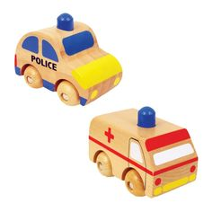 Wooden Rescue Vehicles