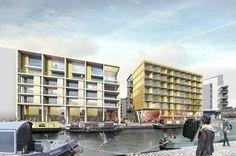 New Freer Street Masterplan, Edinburgh - Union Canal View
